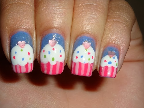 Kid Nails Cupcake Nail Design For Kids