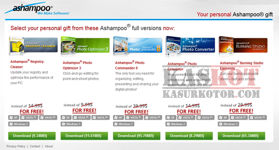 Promo Download Gratis 5 Software dari Ashampoo