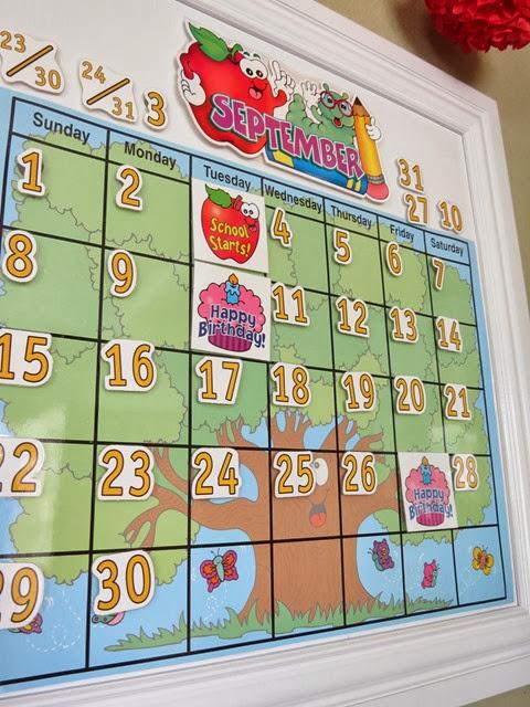 Classroom PreK Kindergarten Calendar www.stylewithcents.blogspot.com