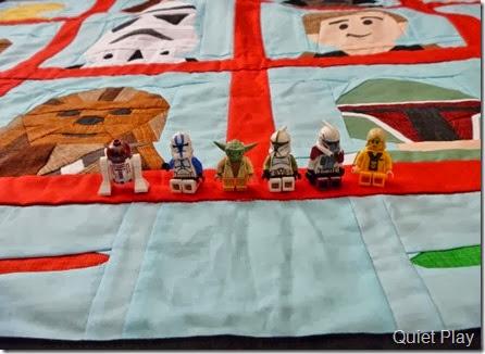 LEGO Star Wars paper pieced quilt