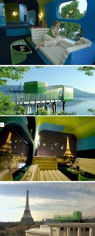 The Most Bizarre Hotels Around the World: Capsule Hotel (Netherlands), Everland( Paris), Hôtel de Glace(Canada), Waterworld Hotel(China),Sala Silvergruva(Sweden),Das Park Hotel(Austria), The De Vrouwe van Stavoren Hotel(Netherlands)