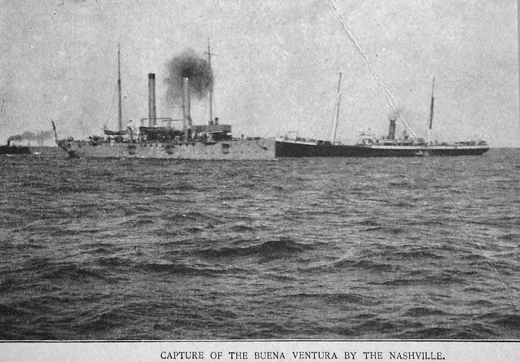 Apresamiento del BUENAVENTURA.Foto del libro Colliers History of the Spanish American War, tomado de la web Navsource.jpg