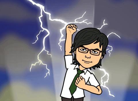 衝撃のオススメをするBitstrips自画像