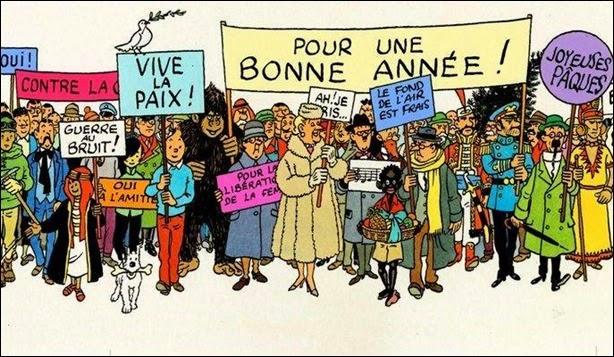 A capa do Tintin publicado no primeiro número de 1947