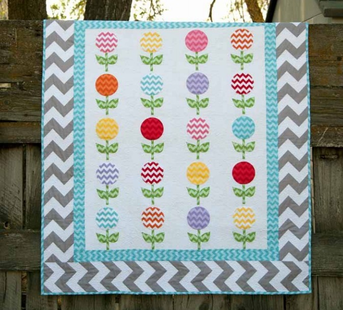 chevron lollies free quilt pattern at Riley Blake