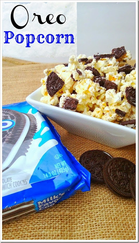 Oreo Popcorn. Could this be heaven? Recipe from Lou Lou Girls
