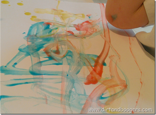 finger paint picture