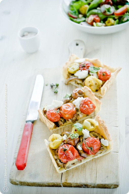 Roasted Tomato Aubergine and Tahini Tart (0015) by Meeta K. Wolff
