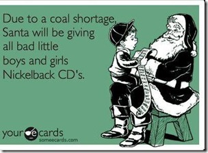 coal shortage - santa - nickelback