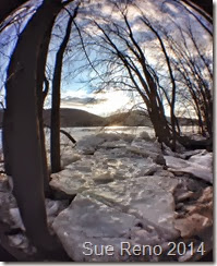 Susquehann River ice jam, by Sue Reno, Fisheye  Image 1