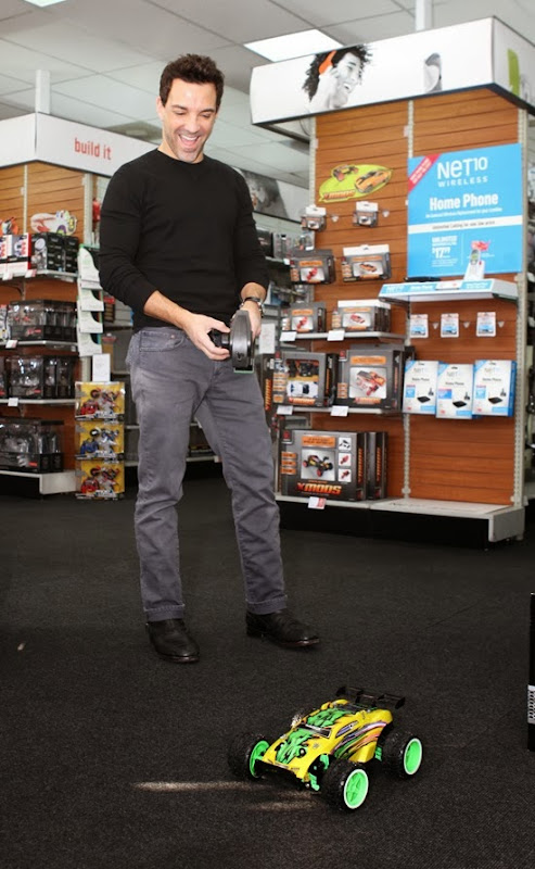 George Kotsiopoulos drives the Dune Warrior at RadioShack in West Hollywood