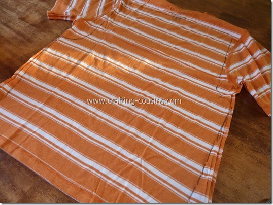 Make a pair of children's pajama pants from a tee shirt.  Check it out at Crafty Cousins (3)