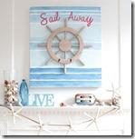 Sail away summer mantel