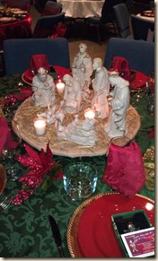 Nativity centerpiece on turntable 12-5-11