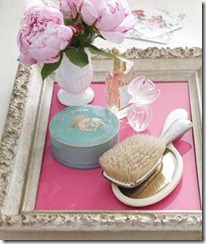 Frame as Vanity Tray
