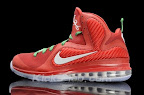 nike lebron 9 gr christmas 3 11 Throwback Thursday: Look Back at LBJs 2011 Christmas Shoes