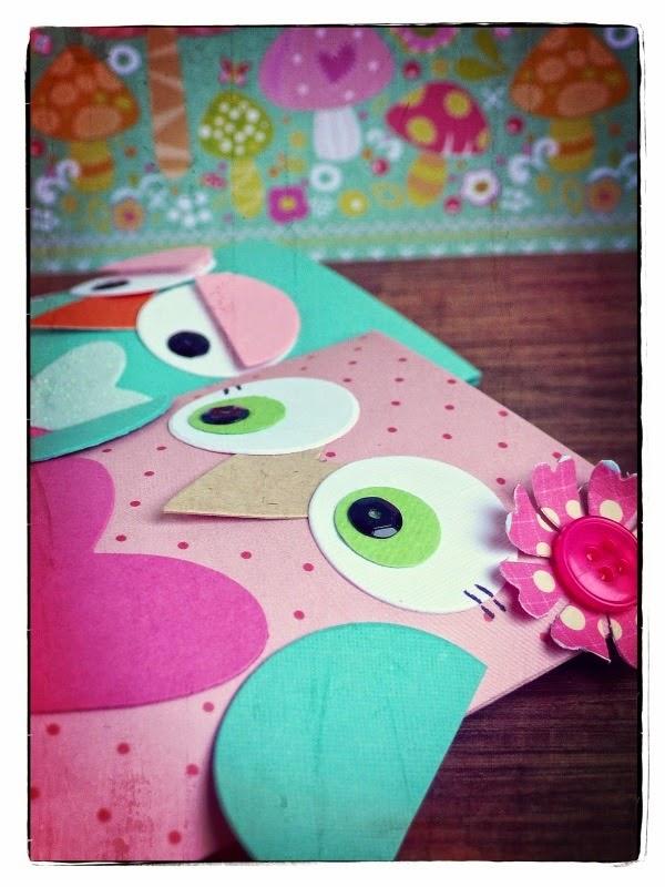 cafe creativo - big shot - gufi - pillow box owl