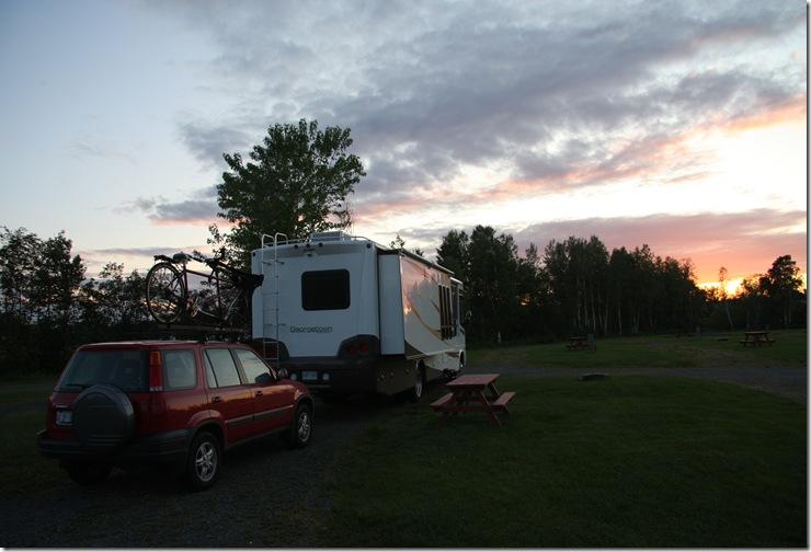 0608-Campsite in Quebec City KOA