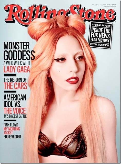 Lady Gaga on cover of Rolling Stone Magazine June 2011