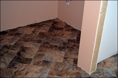 hall bath floor