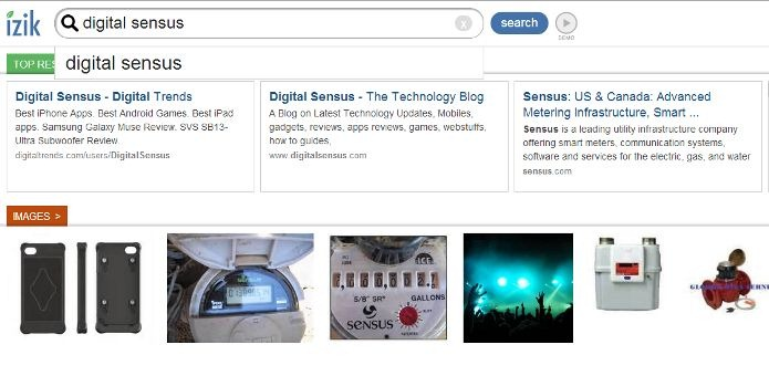 izik search engine for tablets