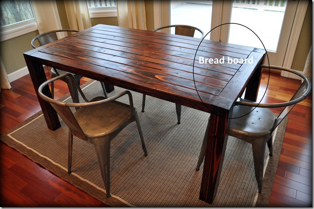 How to Build a Farmhouse Table, metal chairs