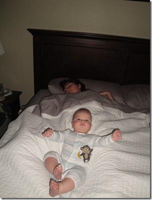 1.  Waking up mommy