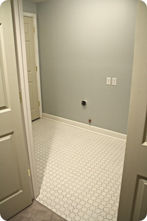 light gray laundry room