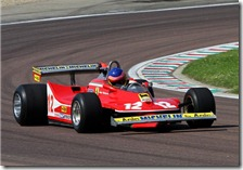 Jacques Villeneuve con la Ferrari 312 T4