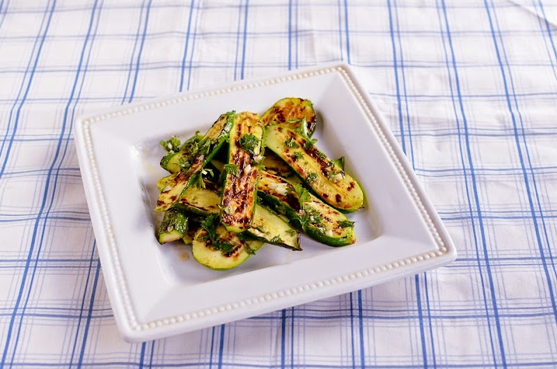 gluten free grilled zucchini with parsley-10960