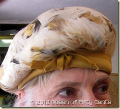 amazing feather beret