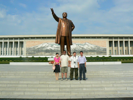 North Korea sights: Monument of Kim Sung Il in Pyongyang