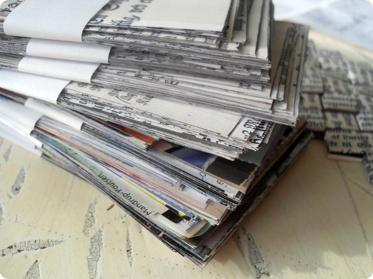 Papirlapper til en taske