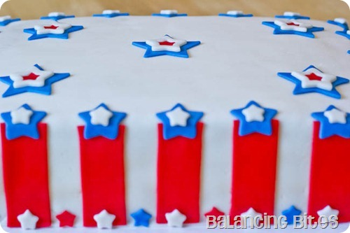 Memorial Day Fondant Cake