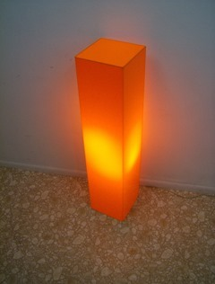 Orange acrylic floor lamp