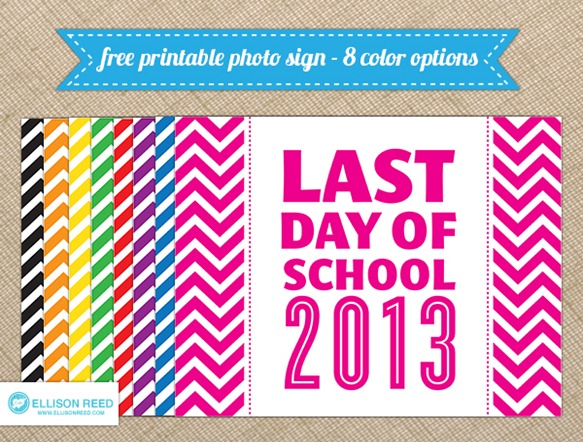 last day of school printable last day of school photo prop