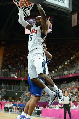 lebron james usa 120729 france 14 LeBron Scores 9 Points and 8 Assists as USA Beat France in Olympic Opener