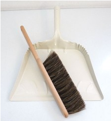 A simple broom and dustpan will come in handy for keeping the sand out of the car after a beach trip. (brookfarmgeneralstore.com)