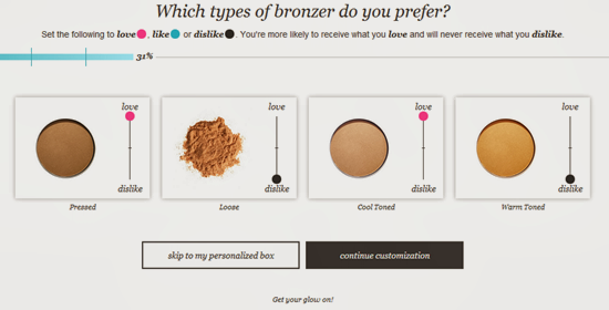 Wantable Bronzer Preferences