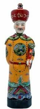 chinese emperor ceramic statue