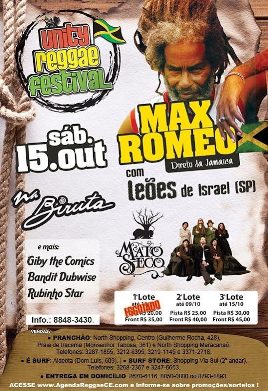 Max Romeo & Leões de Israel e Mato Seco em Fortaleza