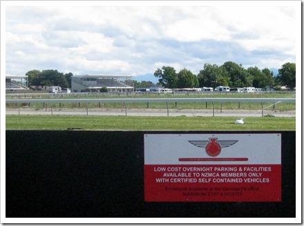 Riverlea Racecourse, Blenheim. A very popular Pop over camp