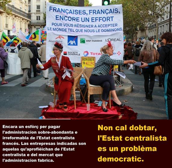 estat centralista francés es lo problèma