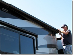 Side topper awning work