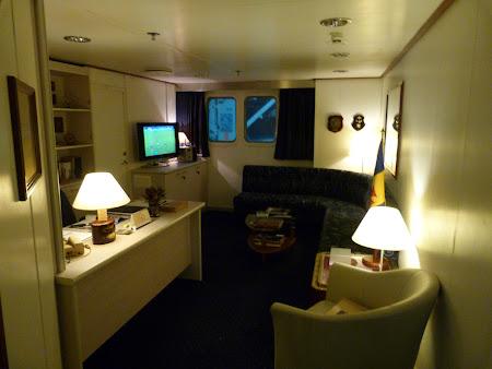 Ferry Madeira - Porto Santo: cabina capitanului