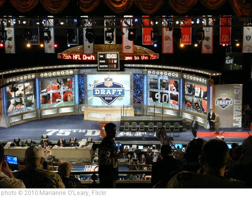 'NFL Draft 2010 Stage from 2nd floor at Radio City Music Hall' photo (c) 2010, Marianne O'Leary - license: https://creativecommons.org/licenses/by/2.0/