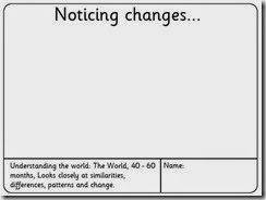 noticing changes