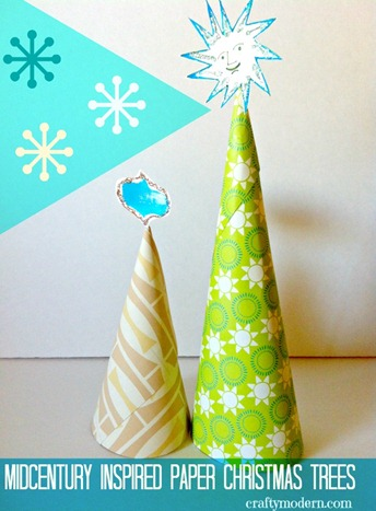 midcentury Christmas trees by CraftyModern