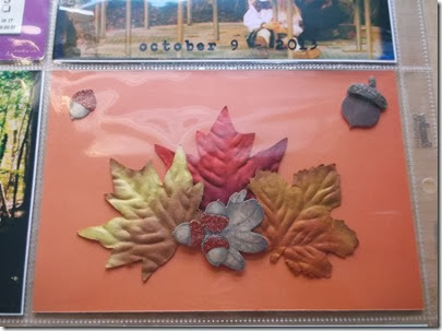 homemade leaf journal card by Tristine Denise