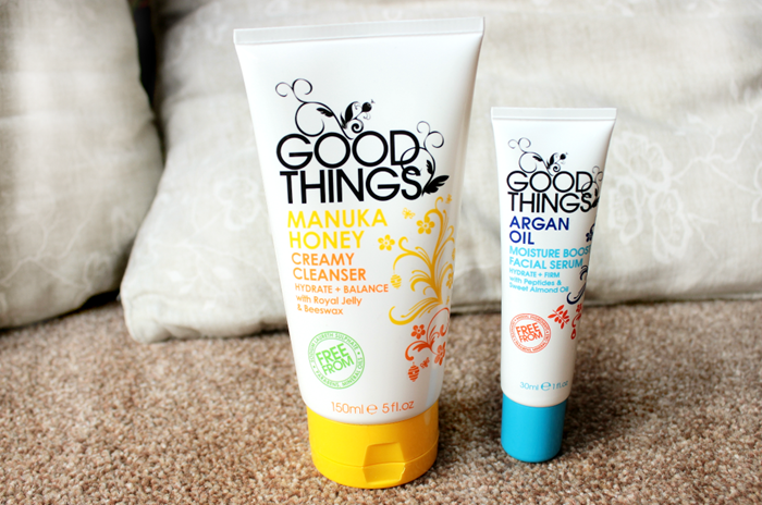 goodthings manuka honey creamy cleanser good things argan oil moisture boost serumm